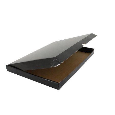 100 x Versandkartons mit abdeckung  25 x 38 + 2,9 cm.., Schwarz
