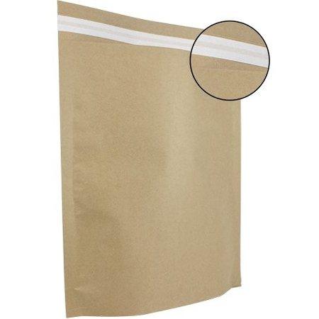 250 x Papierversandbeutel 30 x 36 + 8 cm., braun