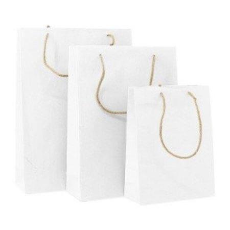 100 x ZEROTREE® Taschen 20 + 8 x 26 cm., weiß
