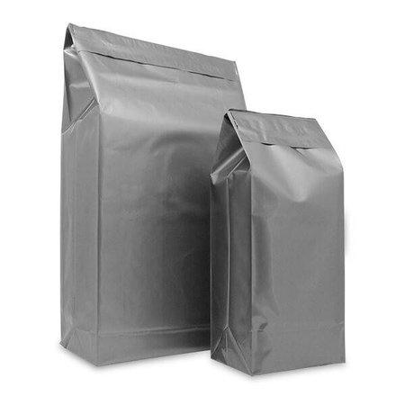 125 x Versandtasche für Schuhe 30+14x47cm, Silber, 8cm Umschlag mit doppelter Klebeverschluß
