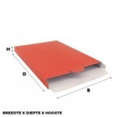100 x Versandkartons 16 x 2,9 x 25 cm., Rot