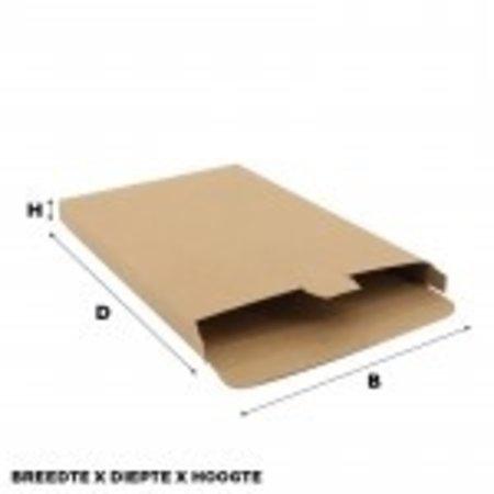 100 x Versandkartons 16 x 2,9 x 25 cm., Braun