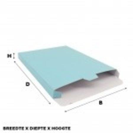 100 x Versandkartons 16 x 2,9 x 25 cm., Blau