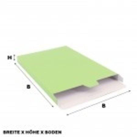 100 x Versandkartons 16 x 2,9 x 25 cm., Grün