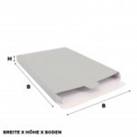 50 x Versandkartons 24 x 2,9 x 35 cm.,Silber