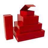 25 x Magnetfaltschachtel Rot