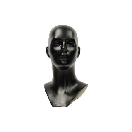 Unisex Kopf aus schwarz Kunststoff.