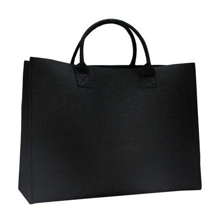 50 x Luxus Filz Tragetaschen 45 + 14 x 34 cm., schwarz