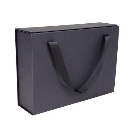 25 x Magnetfaltschachtel mit Trageband - Schwarz