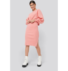 NA-KD NA-KD Rib knitted skirt