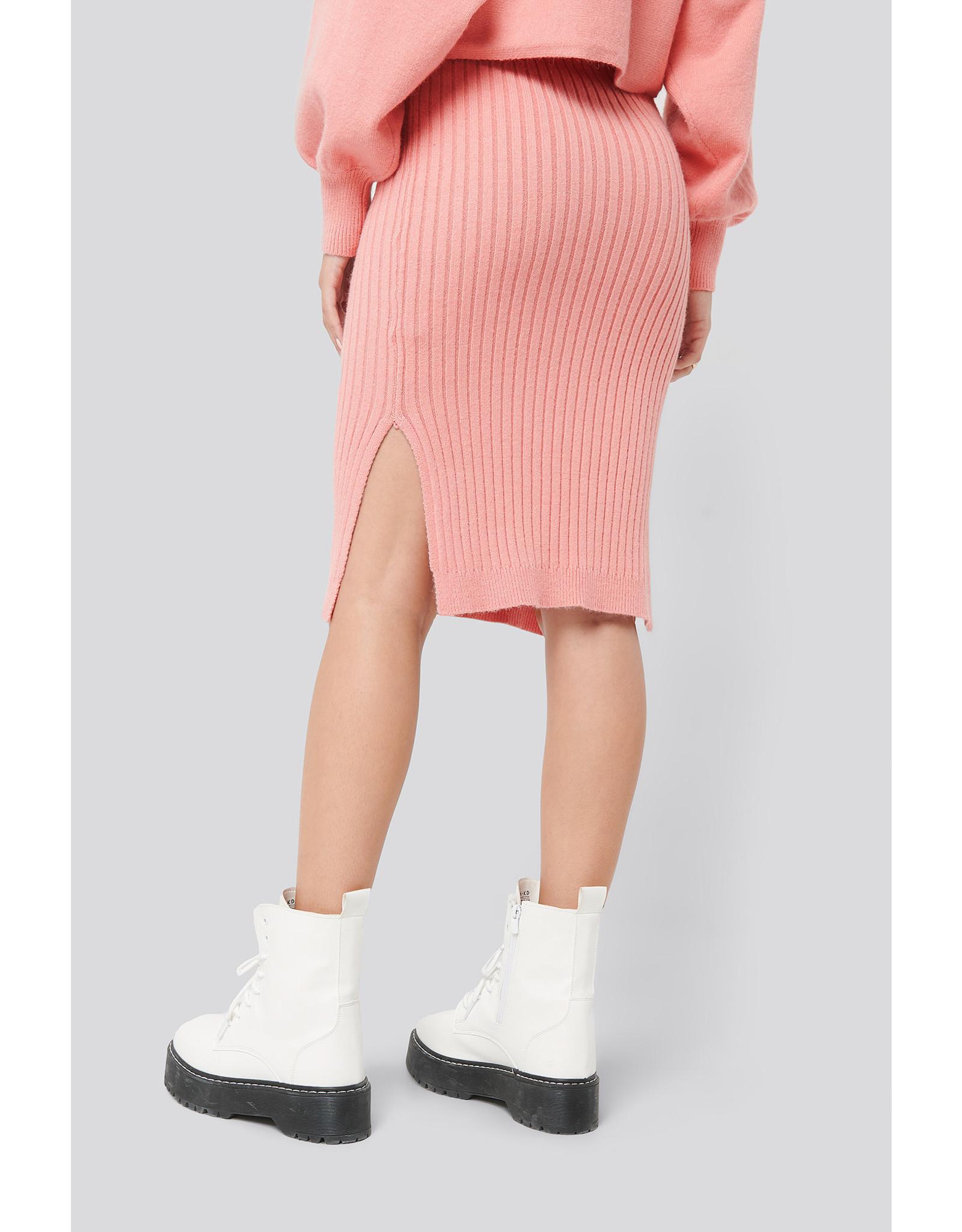 NA-KD NA-KD Rib knitted skirt
