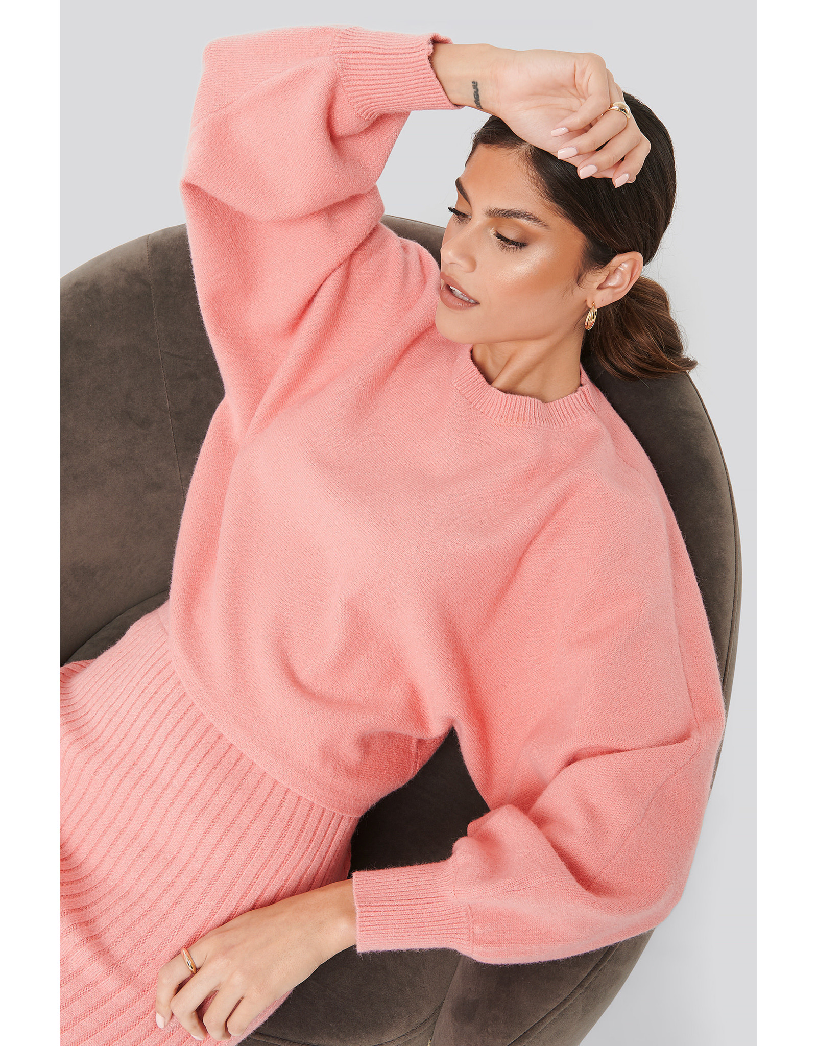 NA-KD Cropped knitted sweater