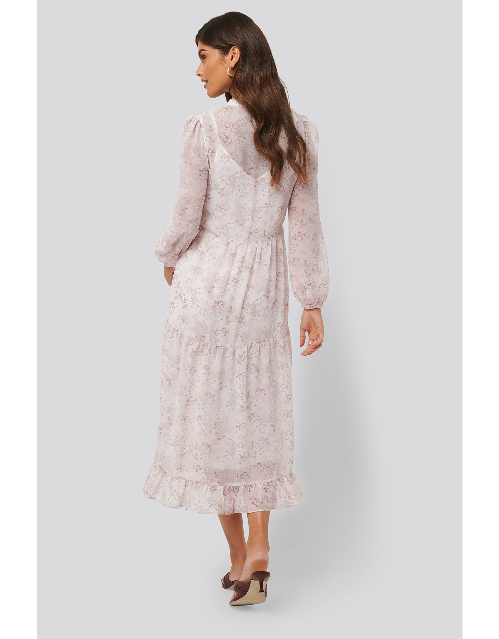 NA-KD Na-KD flower midi dress