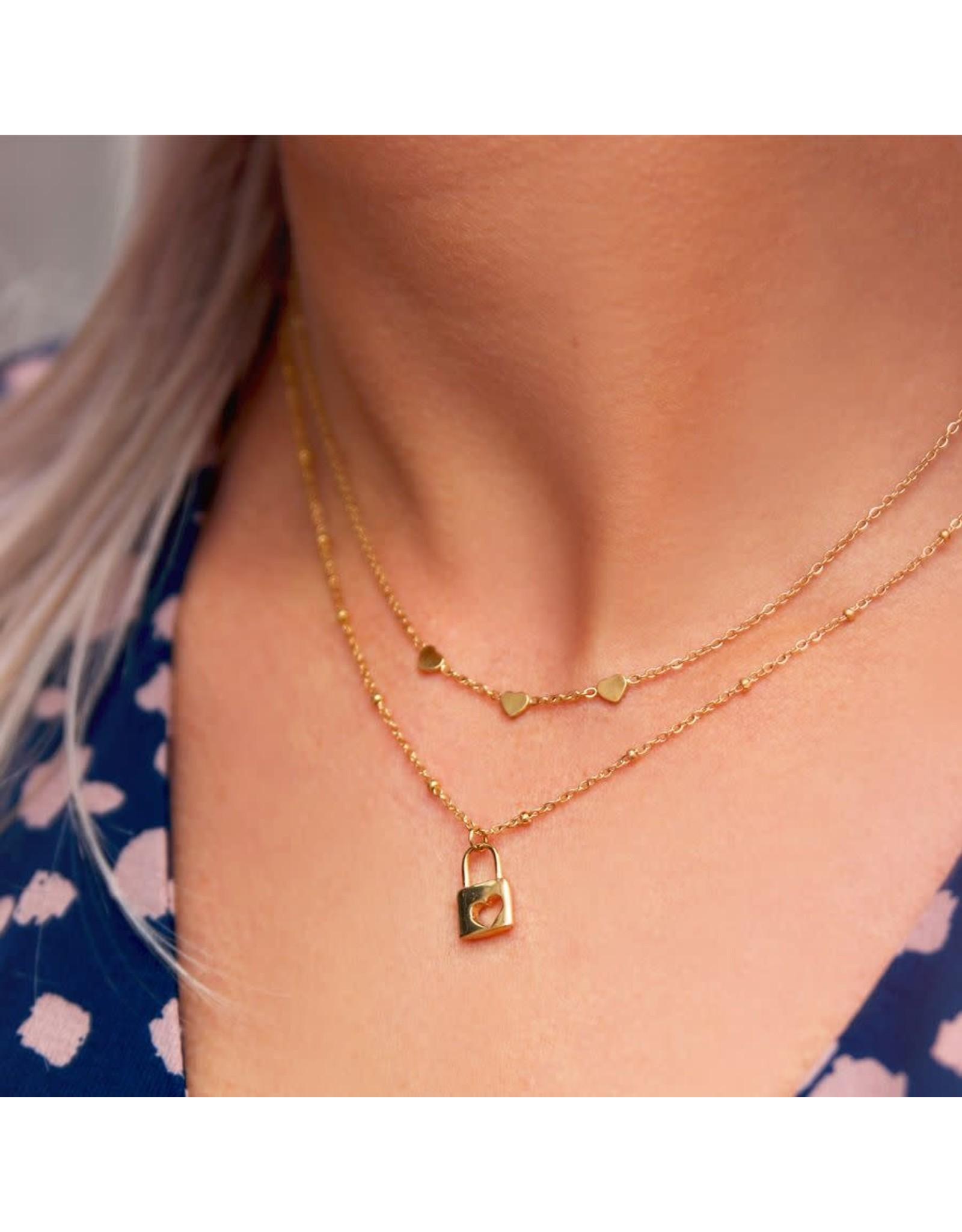 My Jewellery Ketting met 3 hartjes