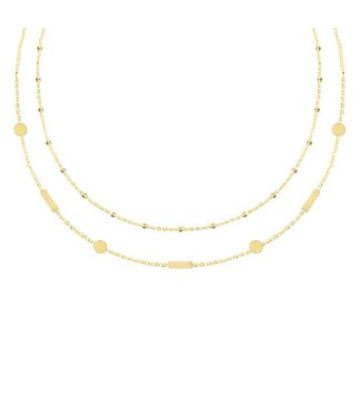 Double Tiny Necklace - Gold/Silver