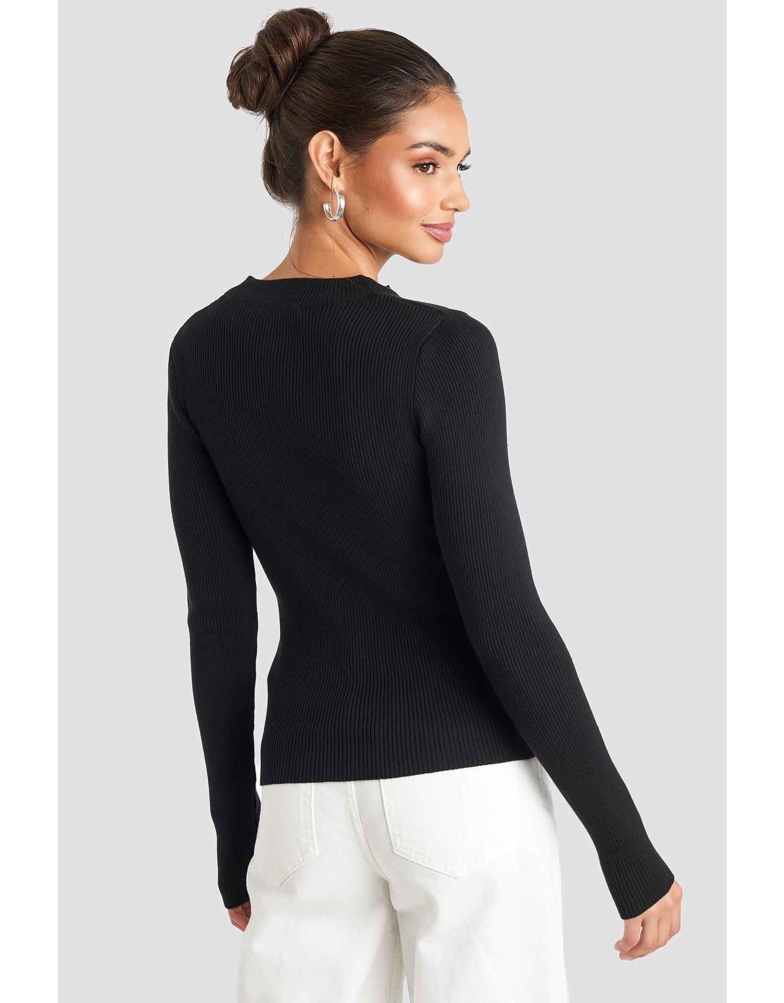 NA-KD NA-KD zip knitted sweater