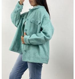 Sense jacket aqua blue