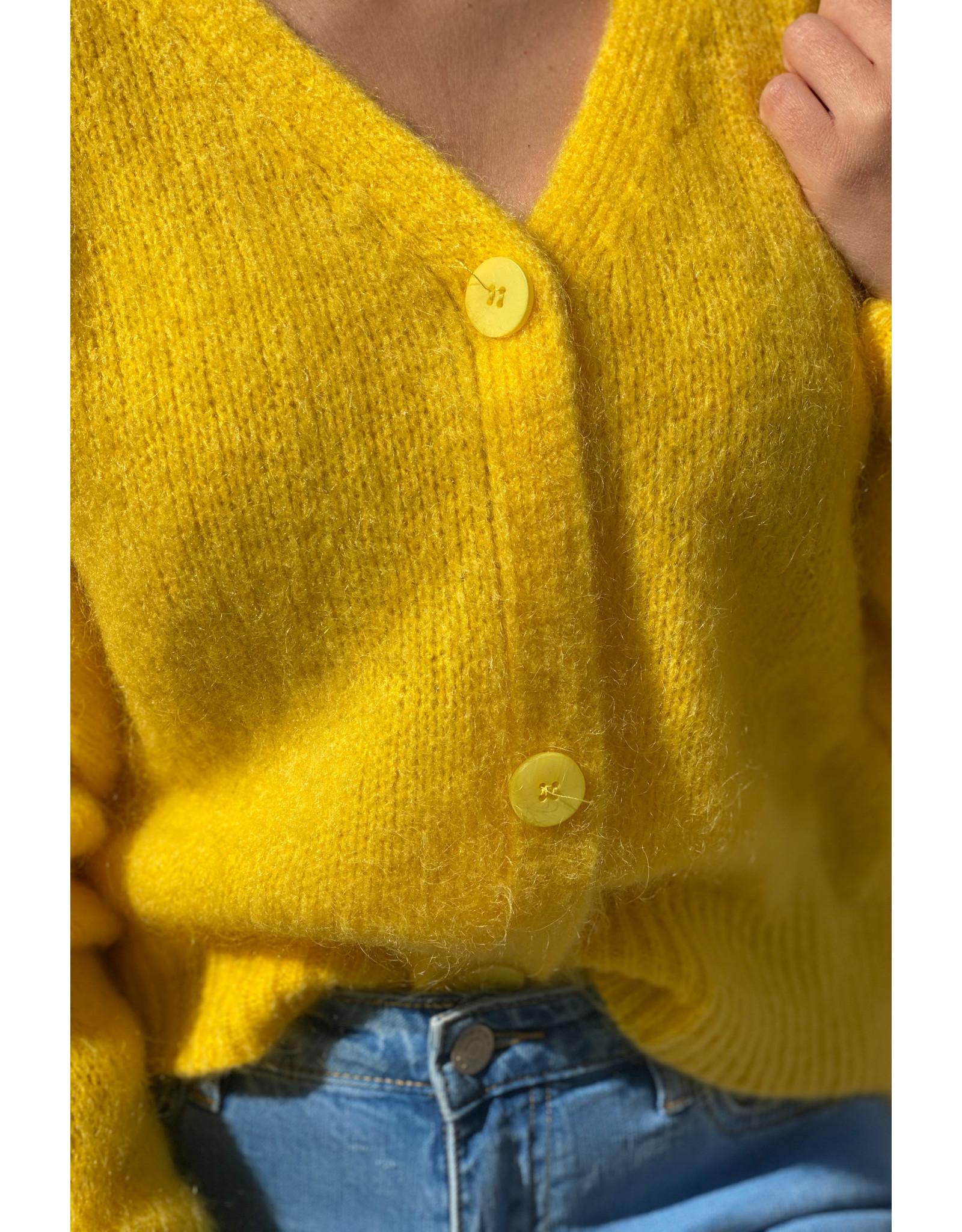 she's milano She's Milano x button cardigan yellow sun