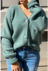 she's milano She's Milano x button cardigan sage green