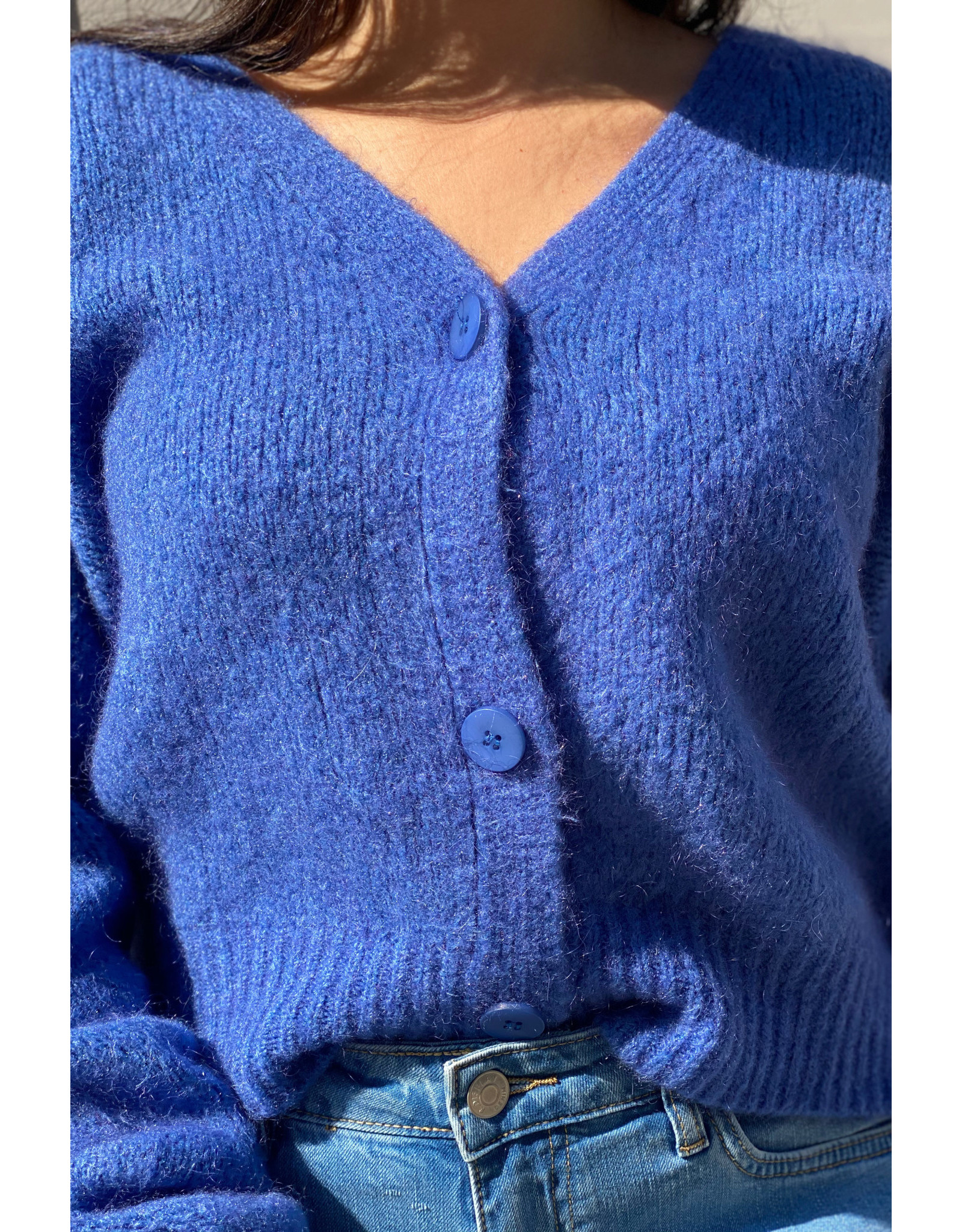 she's milano She's Milano x button cardigan cobalt blue