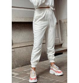 Comfy wear broek wit