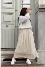 mika elles Soft long skirt nude