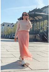 mika elles Soft long skirt pink