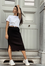 NA-KD NA-KD Rib knitted skirt black