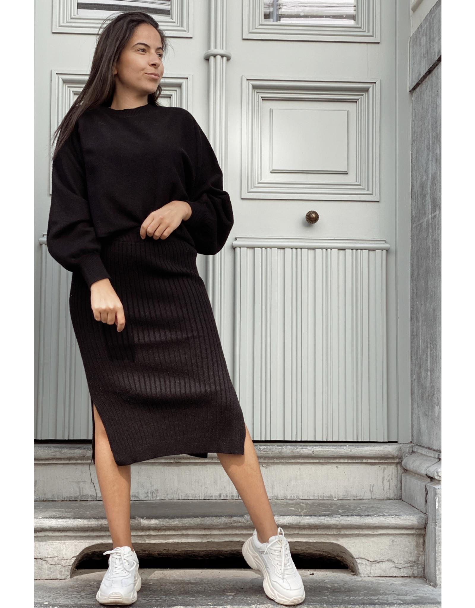 NA-KD NA-KD Cropped knitted sweater black
