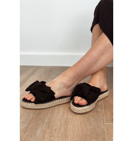 Bestelle Black Bow Slippers