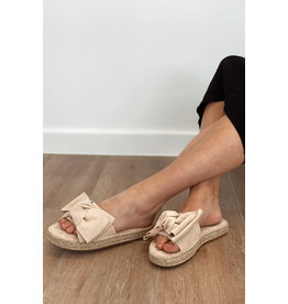 Bestelle Beige Bow Slippers