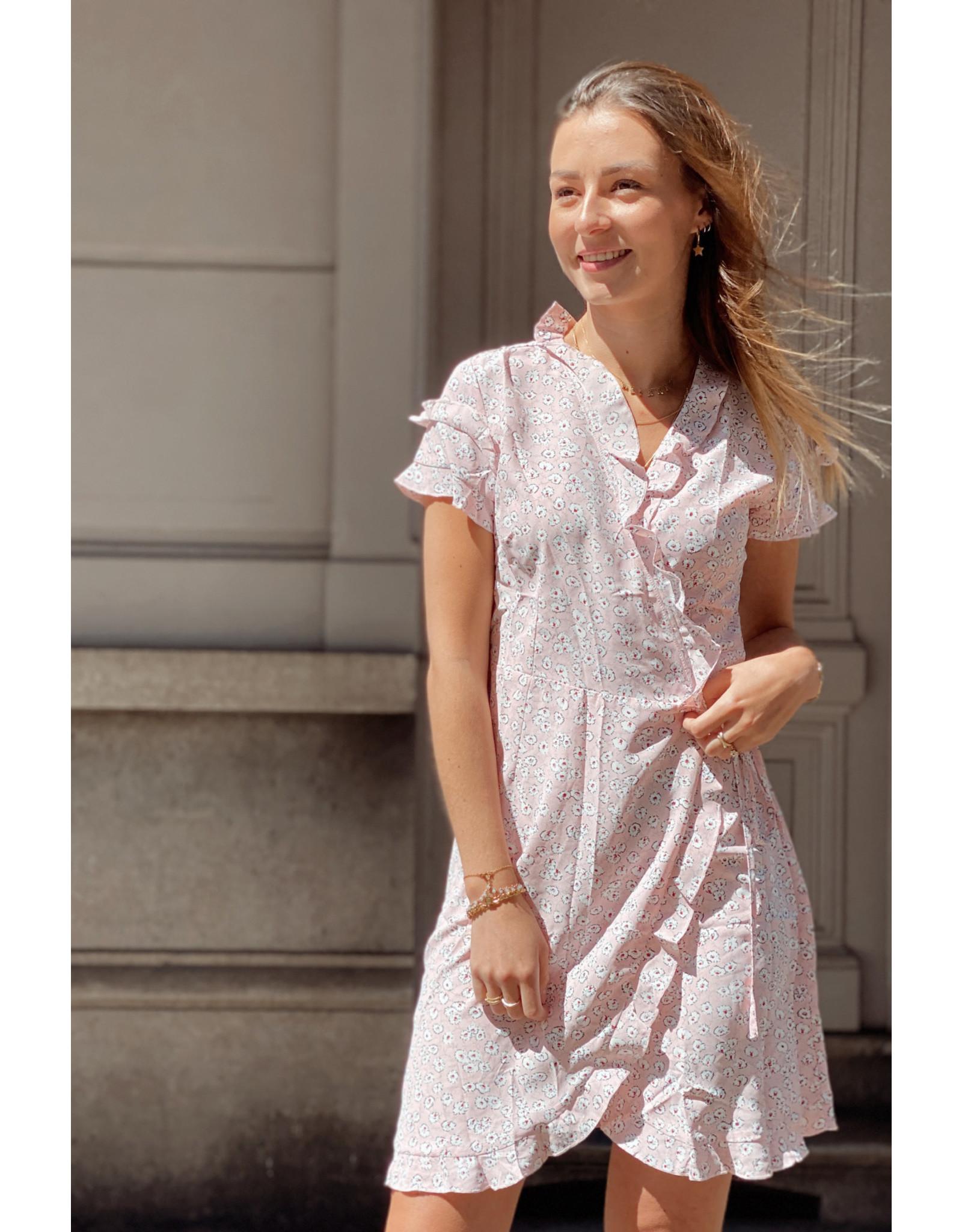 Eight Paris Romantic Wrap Dress Pink