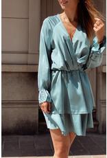 Eight Paris Romantic Satin Dress