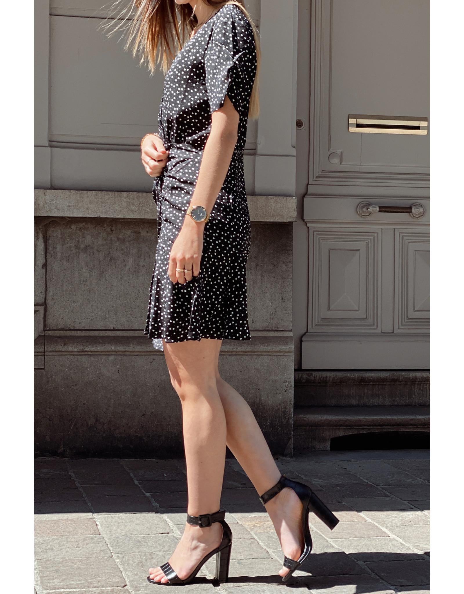Eight Paris Black heart Dress