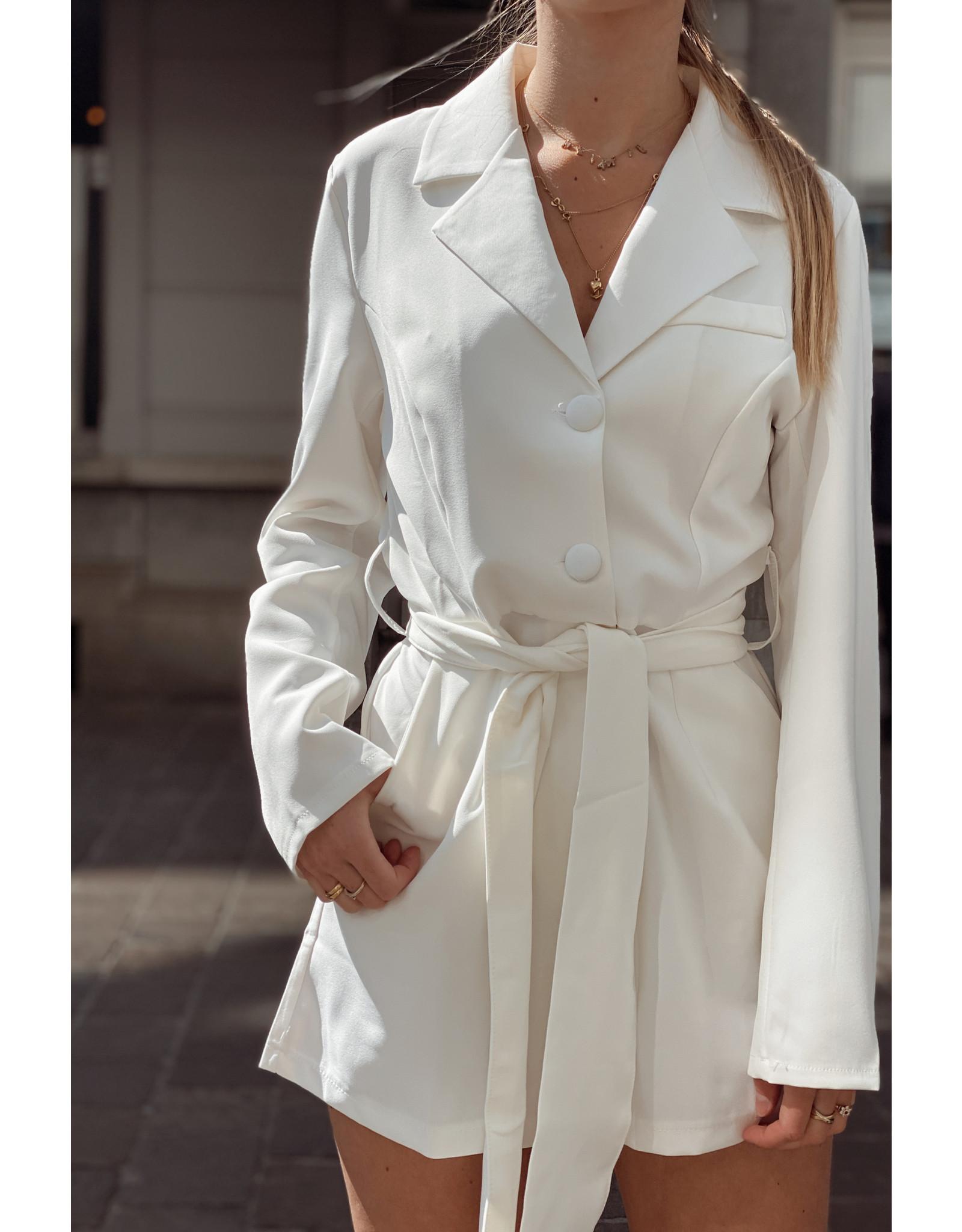 Eight Paris Classic Romantic Jumpsuit white