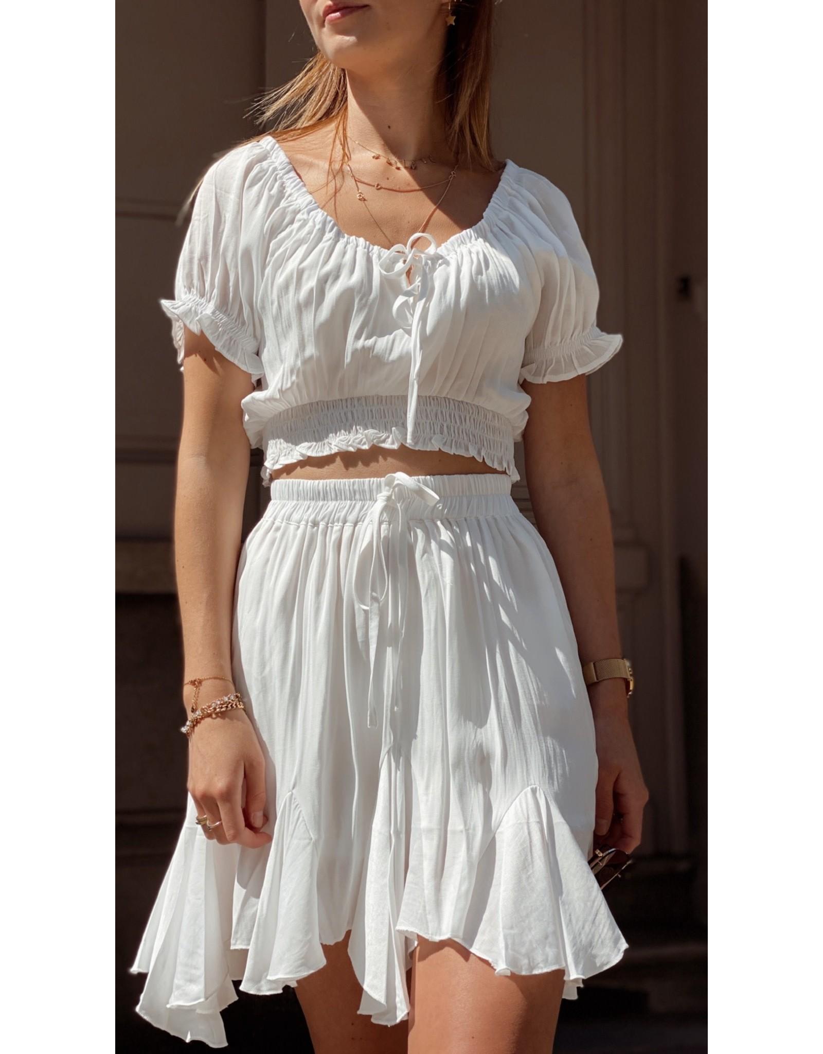 Eight Paris Romantic Ruffle Skirt