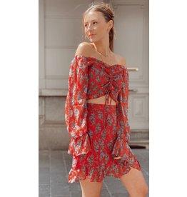 Bohemian Red Skirt