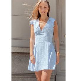 Eight Paris Cute Flower Short Dress Blue