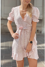 Eight Paris Romantic Floral Pink Dress
