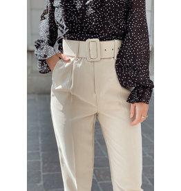 vera&lucy Beige Beltpants