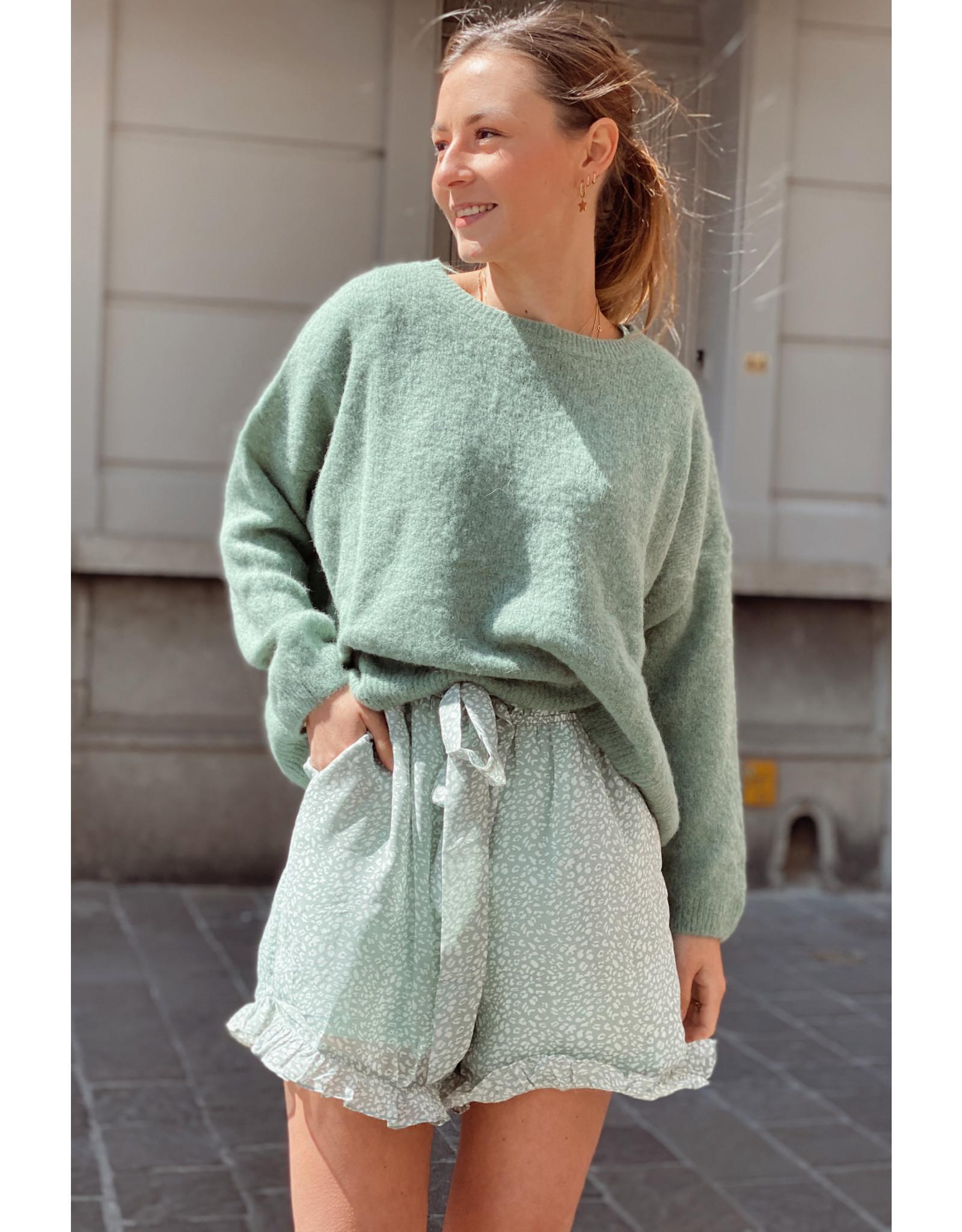She's Milano x soft melo color green