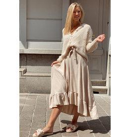 Long lounge dress beige