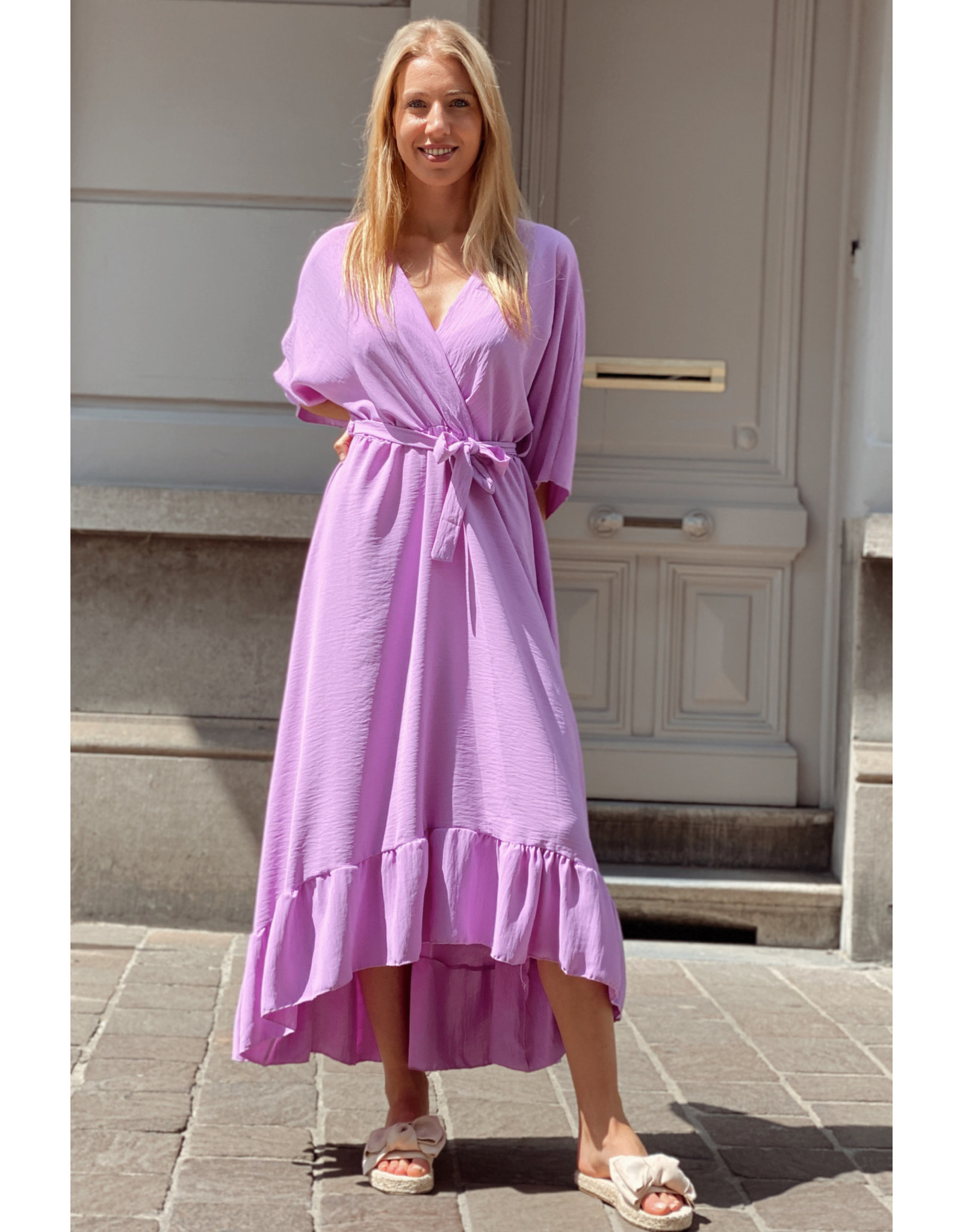 Long lounge dress purple