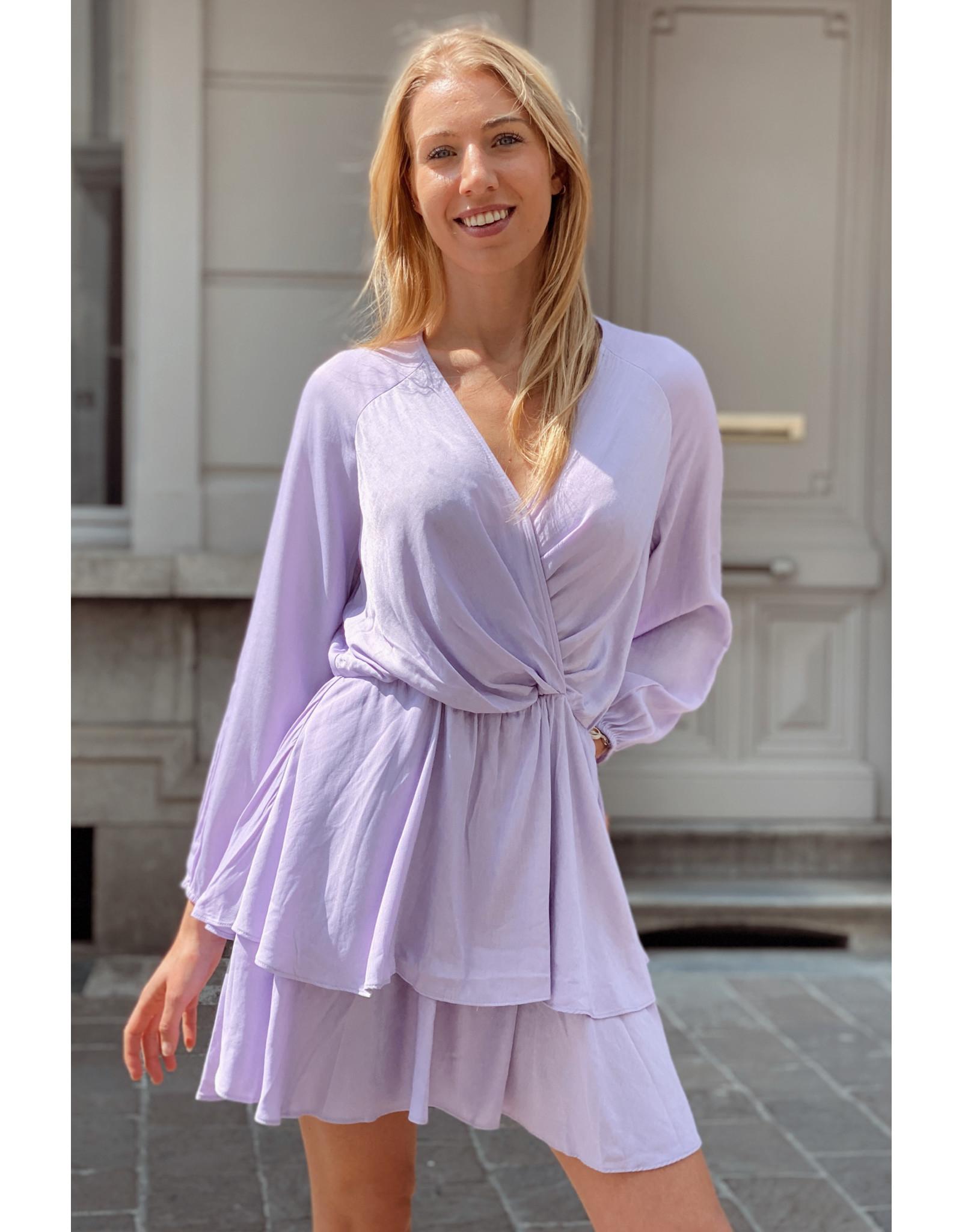 Purple frully dress