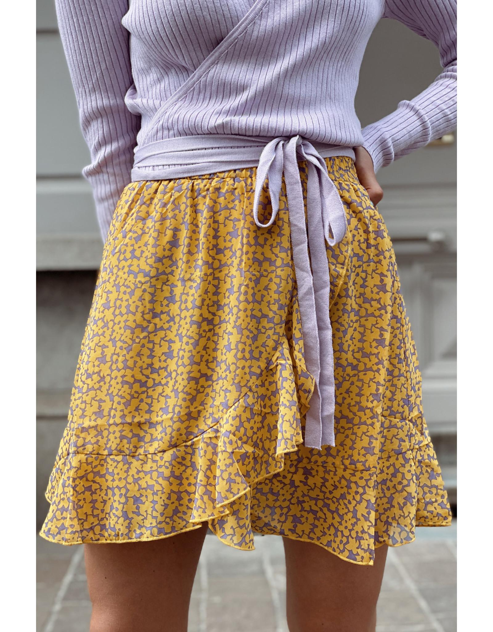 Cute Flower Soft yellow skirt