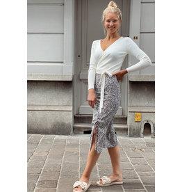 Eight Paris Flower skirt midi