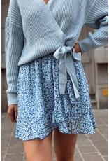 Cute Flower blue skirt
