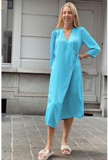Open split dress blue