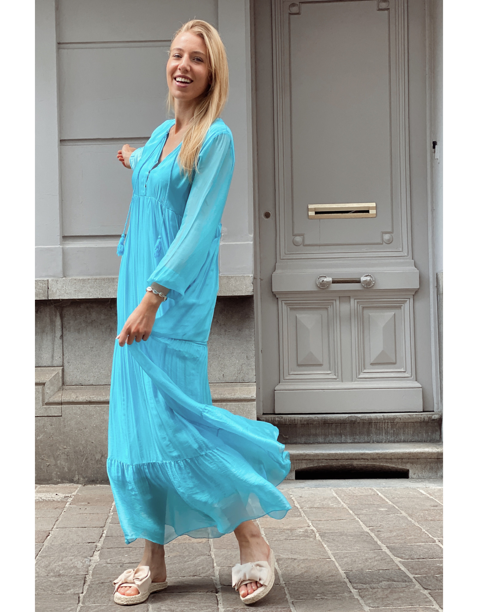 Pompom Blue dress