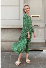 Dotted Green Long softdress